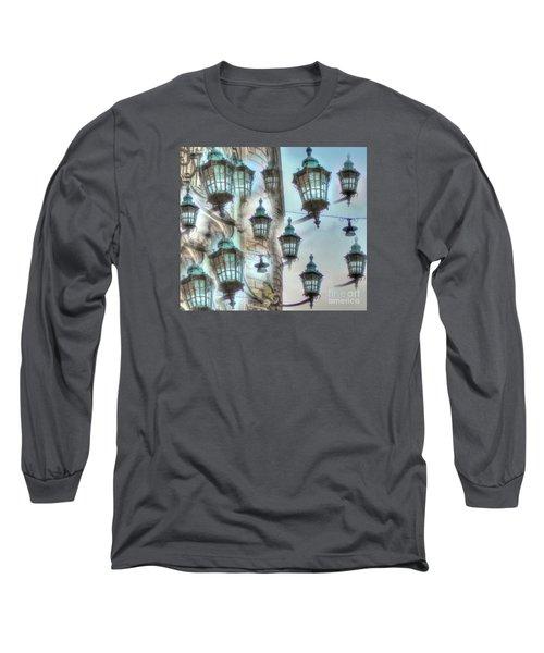 Long Sleeve T-Shirt featuring the mixed media Yury Bashkin Light by Yury Bashkin