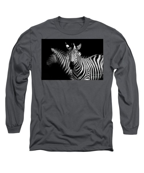 Long Sleeve T-Shirt featuring the photograph Zebra by Charuhas Images