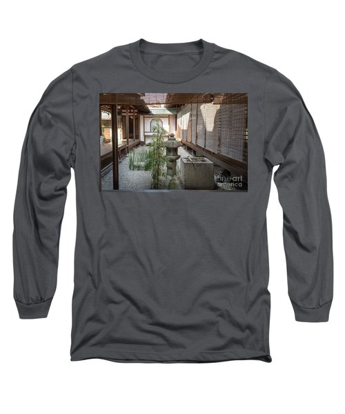 Zen Garden, Kyoto Japan Long Sleeve T-Shirt