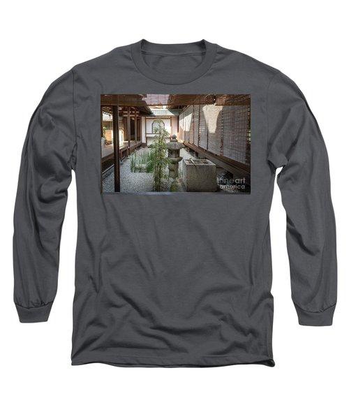 Zen Garden, Kyoto Japan Long Sleeve T-Shirt