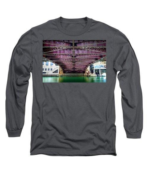 1136 Under The Dearborn Street Bridge Long Sleeve T-Shirt