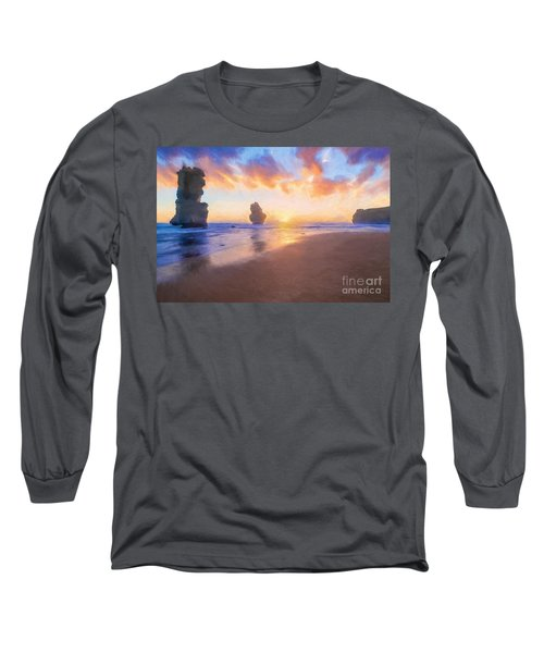 12 Apostles With Marshmallow Skies    Og Long Sleeve T-Shirt