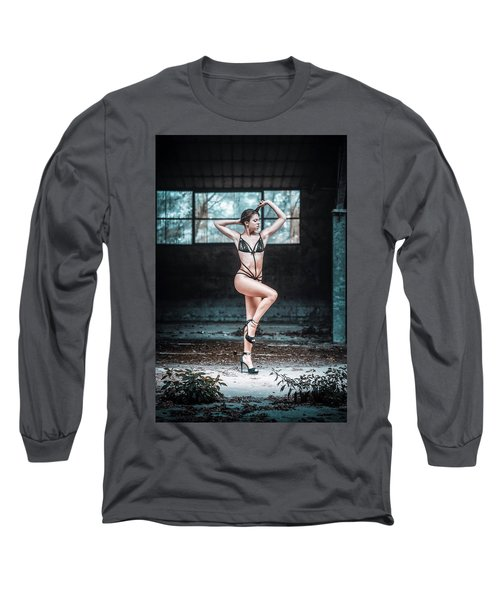 Long Sleeve T-Shirt featuring the photograph Giulia by Traven Milovich