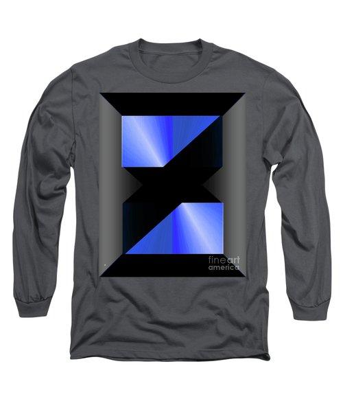 Long Sleeve T-Shirt featuring the digital art 1204-2017 by John Krakora