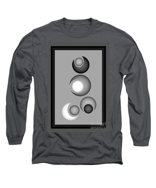 Long Sleeve T-Shirt featuring the digital art 1320-2017 by John Krakora