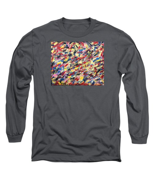 14k Gold Abstract Painting 48x60 Print Long Sleeve T-Shirt