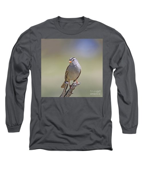 White-crowned Sparrow Long Sleeve T-Shirt