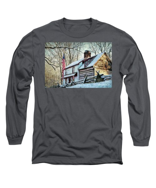 1700's Log House In West Chester, Pa Long Sleeve T-Shirt