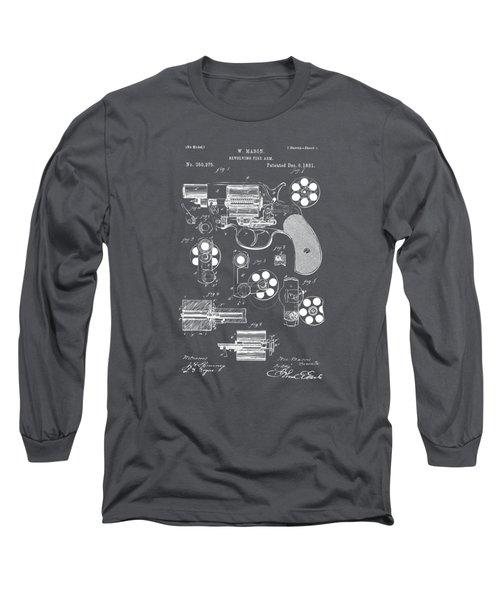 1881 Colt Revolving Fire Arm Patent Artwork - Gray Long Sleeve T-Shirt
