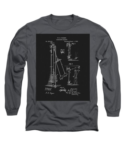 1885 Exercise Apparatus Long Sleeve T-Shirt by Dan Sproul
