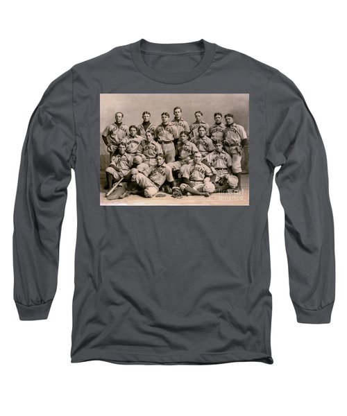 1896 Michigan Baseball Team Long Sleeve T-Shirt