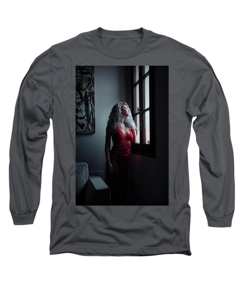 Long Sleeve T-Shirt featuring the photograph Tu M'as Promis by Traven Milovich