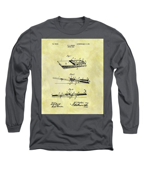 Long Sleeve T-Shirt featuring the mixed media 1903 Mouse Trap Patent by Dan Sproul