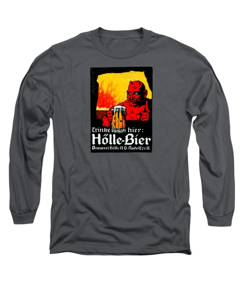 1905 German Beer Poster Long Sleeve T-Shirt by Historic Image