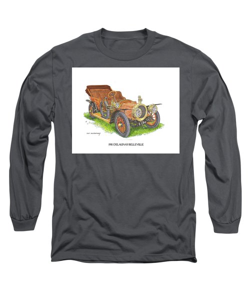 Long Sleeve T-Shirt featuring the painting 1911 Delaunay Belleville Open Tourer by Jack Pumphrey