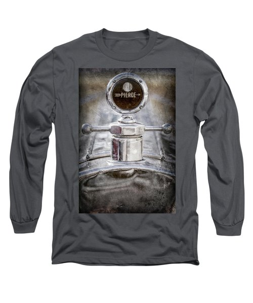 Long Sleeve T-Shirt featuring the photograph 1920 Pierce-arrow Model 48 Coupe Hood Ornament -2829ac by Jill Reger
