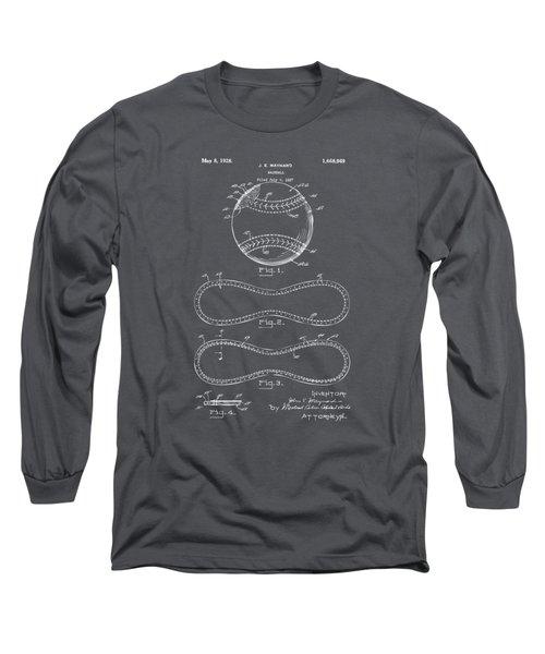 1928 Baseball Patent Artwork - Gray Long Sleeve T-Shirt