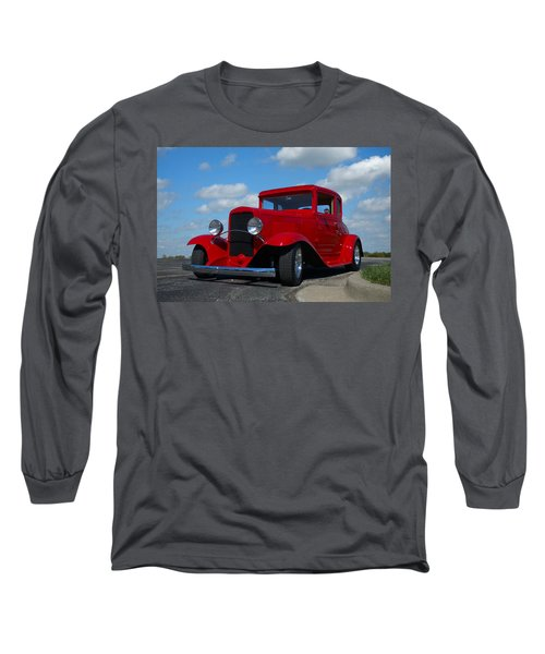 1930 Chevrolet Coupe Hot Rod Long Sleeve T-Shirt