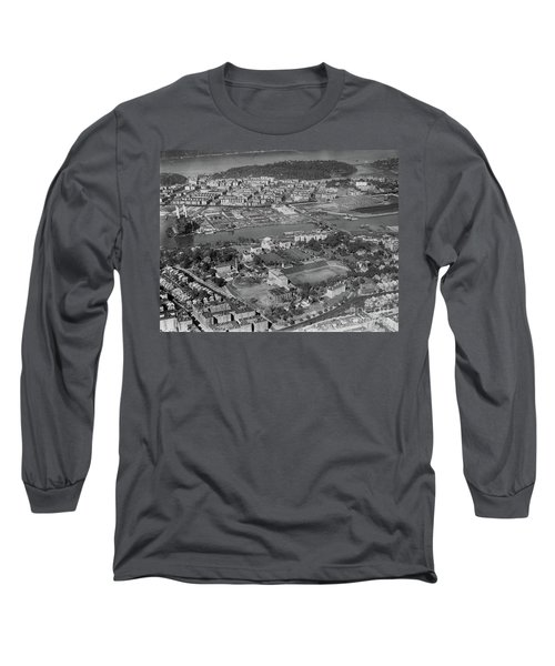 Long Sleeve T-Shirt featuring the photograph 1930's Northern Manhattan Aerial  by Cole Thompson