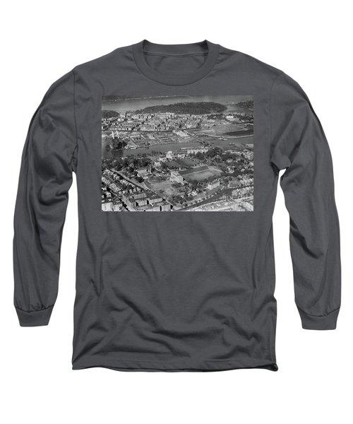 1930's Northern Manhattan Aerial  Long Sleeve T-Shirt