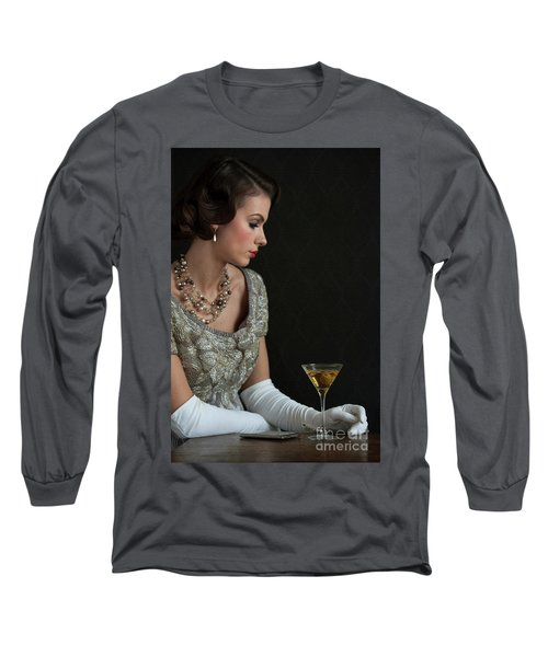 1930s Woman With A Cocktail Glass Long Sleeve T-Shirt