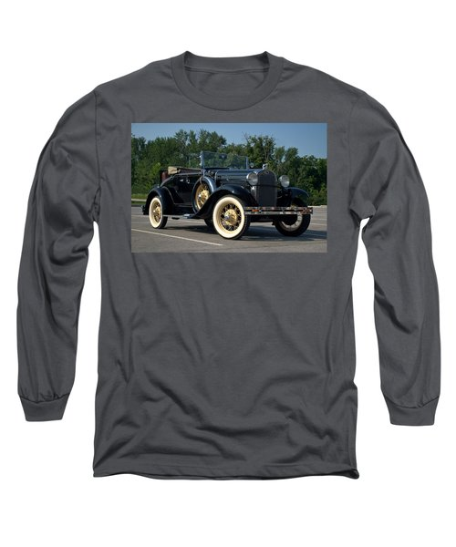 Long Sleeve T-Shirt featuring the photograph 1931 Ford Model A Roadster by Tim McCullough