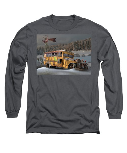 1931 Ford School Bus Long Sleeve T-Shirt by Stuart Swartz