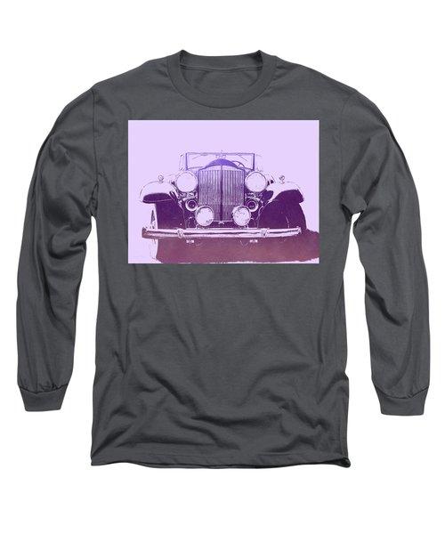 1932 Packard Pop Art Violet Gradient Long Sleeve T-Shirt
