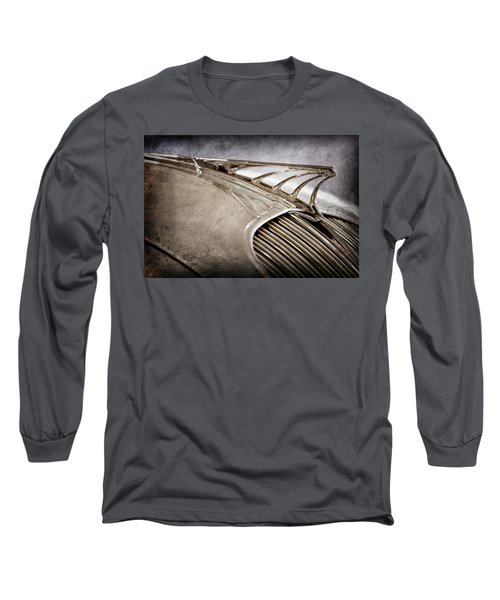 Long Sleeve T-Shirt featuring the photograph 1934 Desoto Airflow Coupe Hood Ornament -2404ac by Jill Reger