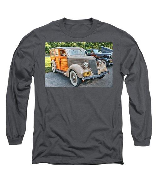 1936 Ford V8 Woody Station Wagon Long Sleeve T-Shirt