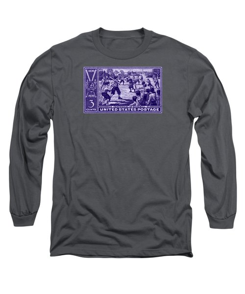 Long Sleeve T-Shirt featuring the painting 1939 Baseball Centennial by Historic Image