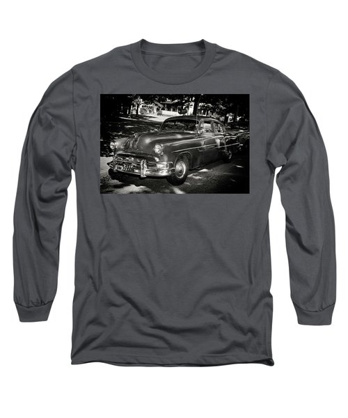 1940s Police Car Long Sleeve T-Shirt by Paul Seymour