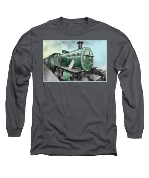 1940's Steam Train Long Sleeve T-Shirt by Marty Garland