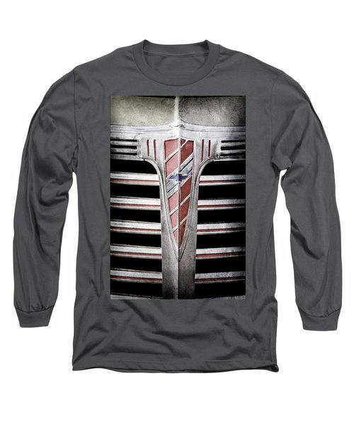 Long Sleeve T-Shirt featuring the photograph 1941 Chevrolet Grille Emblem -0288ac by Jill Reger