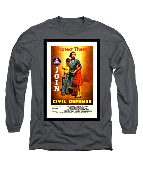 1942 Civil Defense Poster By Charles Coiner Long Sleeve T-Shirt by Peter Gumaer Ogden Collection