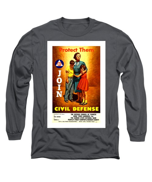 1942 Civil Defense Poster II By Charles Coiner Long Sleeve T-Shirt by Peter Gumaer Ogden Collection