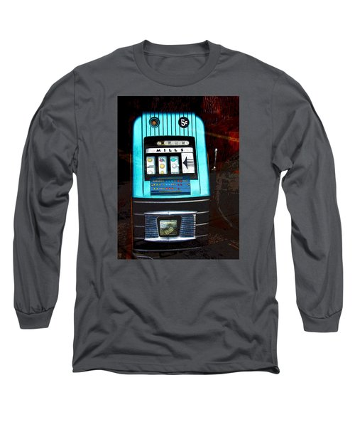 1945 Mills High Top 5 Cent Nickel Slot Machine Long Sleeve T-Shirt