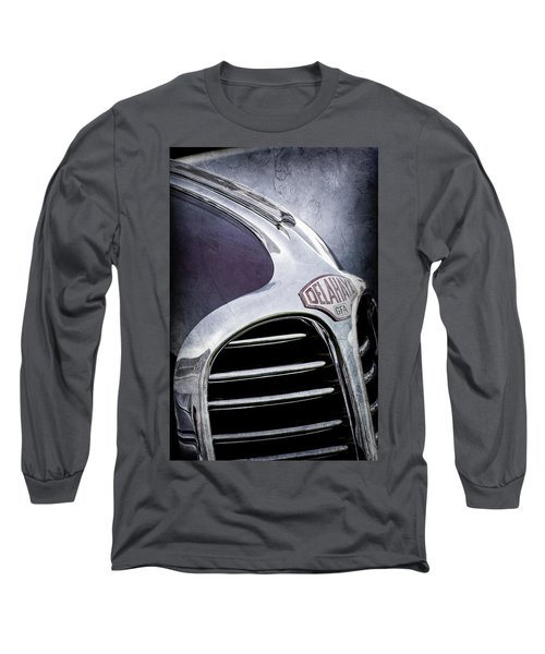 Long Sleeve T-Shirt featuring the photograph 1947 Delahaye Emblem -1477ac by Jill Reger