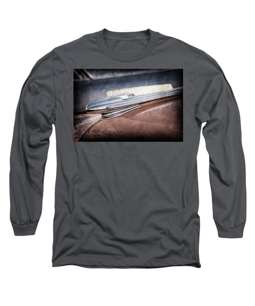 Long Sleeve T-Shirt featuring the photograph 1948 Chevrolet Hood Ornament -0587ac by Jill Reger