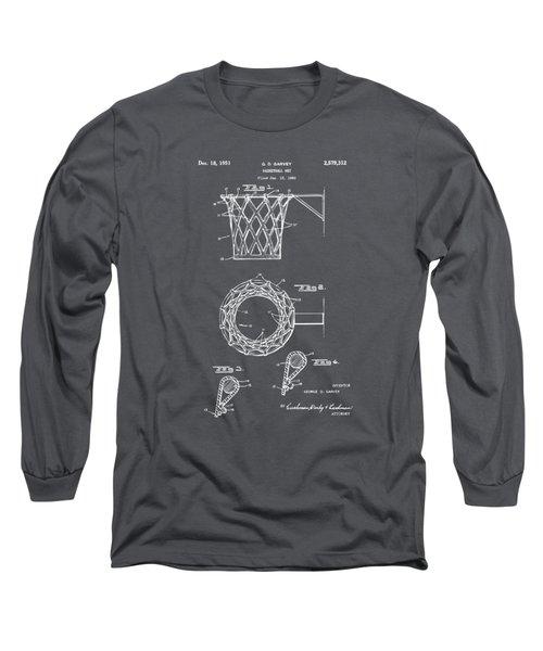 1951 Basketball Net Patent Artwork - Gray Long Sleeve T-Shirt