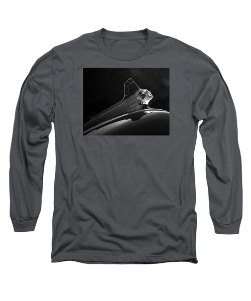 Long Sleeve T-Shirt featuring the photograph 1952 Pontiac Catalina Chieftan Lighted Hood Ornament 3 by Betty Denise
