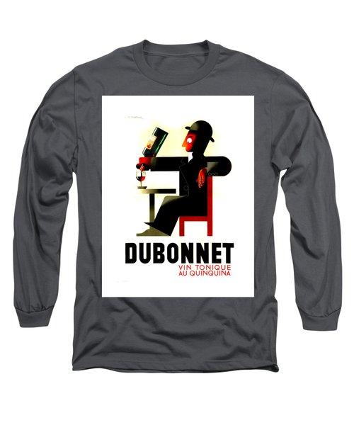 1956 Dubonnet Poster II By Adolphe Mouron Cassandre Long Sleeve T-Shirt by Peter Gumaer Ogden Collection