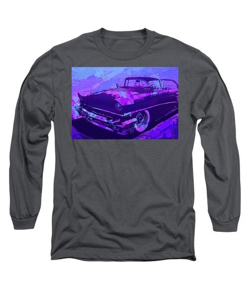 1956 Mercury Hardtop Custom Pop Violet Long Sleeve T-Shirt