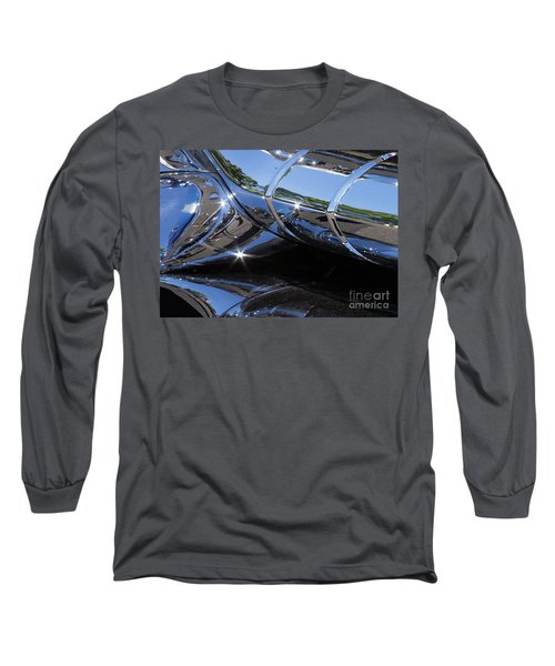 1956 Pontiac Chieftain Grill Abstract Long Sleeve T-Shirt