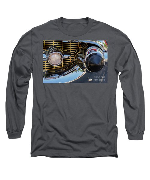 1957 Chevy Bel Air Grill Abstract 2 Long Sleeve T-Shirt