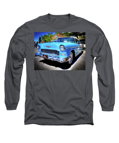 1955 Chevy Baby Blue Long Sleeve T-Shirt