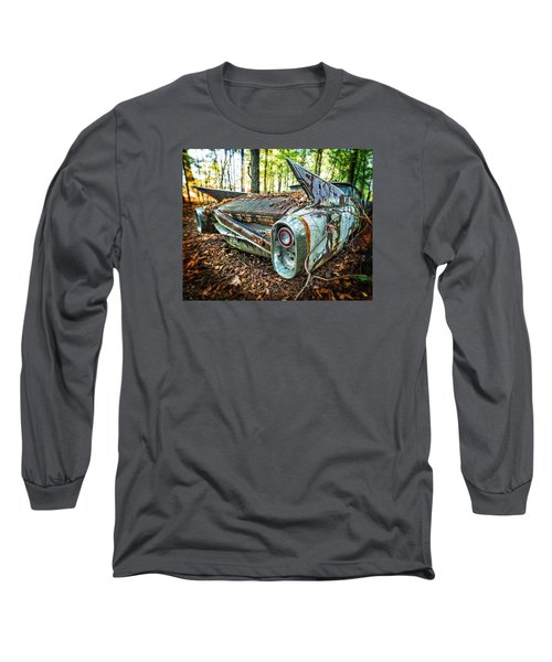 1960 Cadillac At Rest Long Sleeve T-Shirt by Alan Raasch