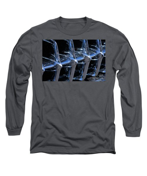 1960 Chevy Corvette Grill Abstract Long Sleeve T-Shirt