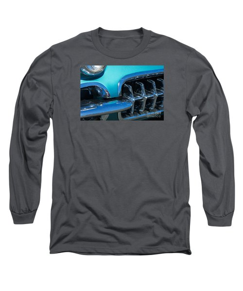 1960 Chevy Corvette Headlight And Grill Abstract Long Sleeve T-Shirt