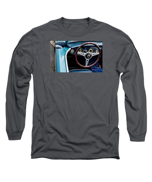 Long Sleeve T-Shirt featuring the photograph 1961 Austin Healey 3000 by M G Whittingham